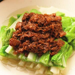 素肉燥拌小白菜