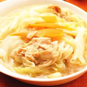 豆皮滷高麗菜