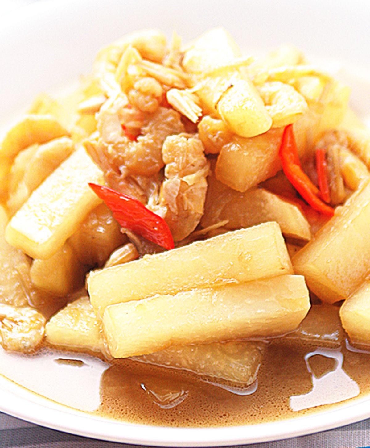 食譜:蝦米菜心