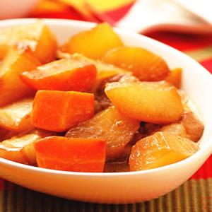 五花肉滷紅白蘿蔔