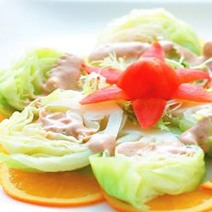 涼拌高麗菜芽佐腰果芝麻醬