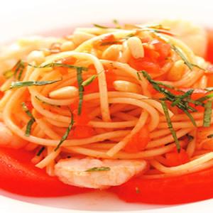 鮮蝦蕃茄冷麵