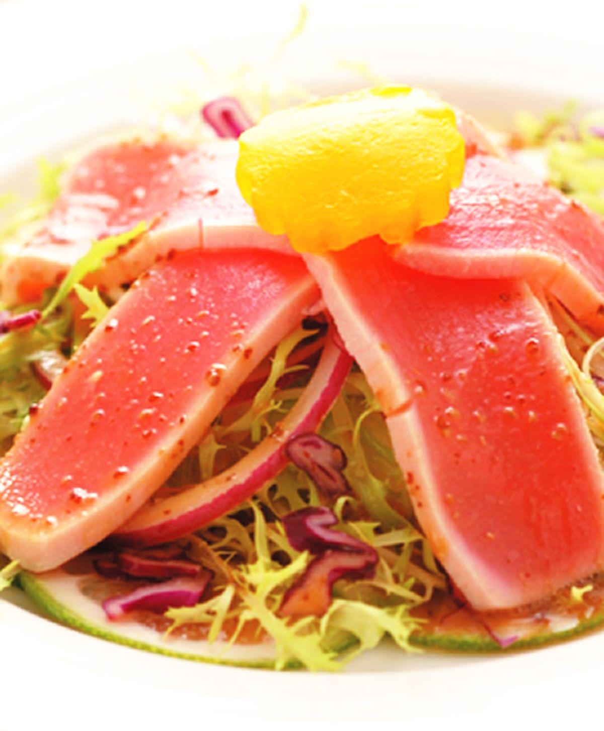 食譜:鮮鮪生菜沙拉