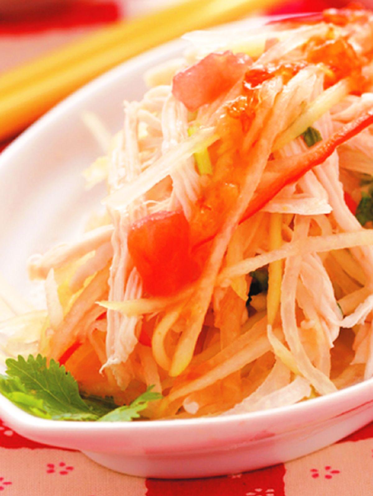 食譜:雞絲拌青木瓜