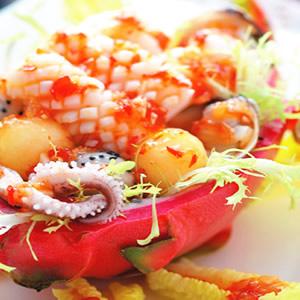 火龍果海鮮盒