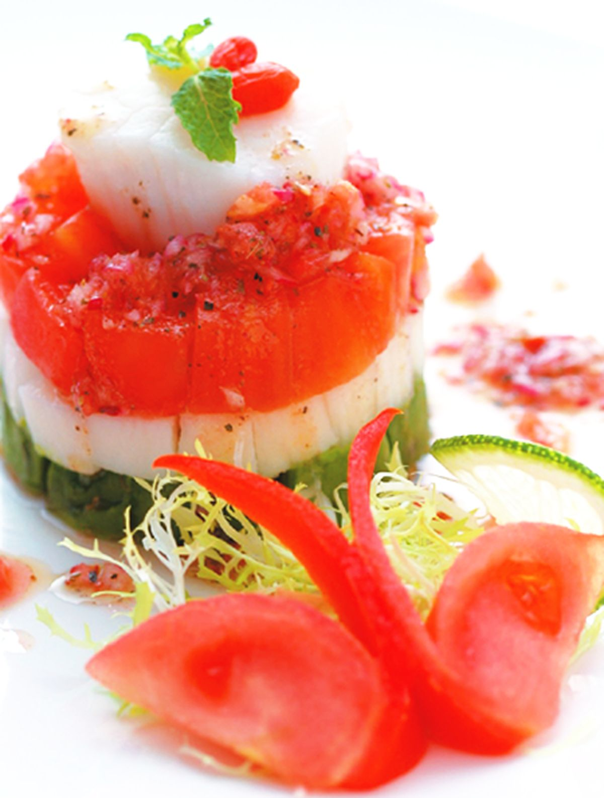 食譜:鮮貝酪梨沙拉