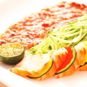 龍蝦沙拉佐巴西磨菇醬