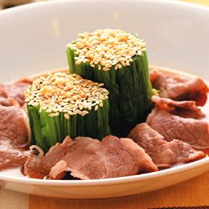 涼拌芝麻菠菜牛肉片