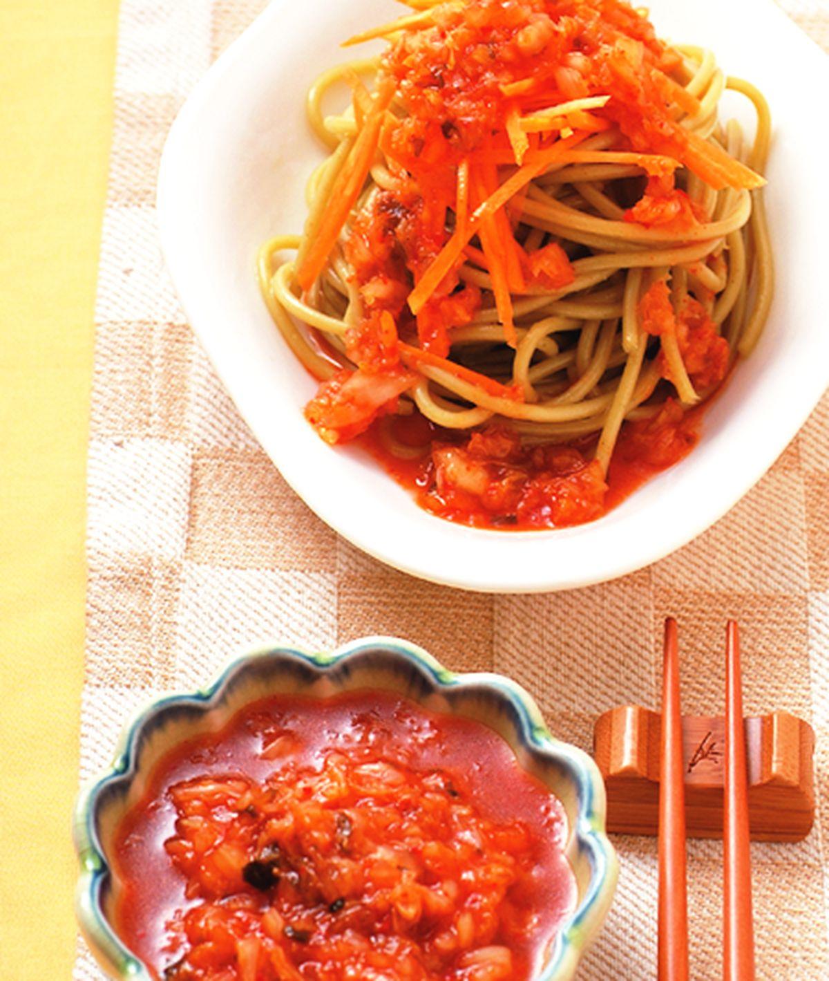 食譜:泡菜油醋涼麵