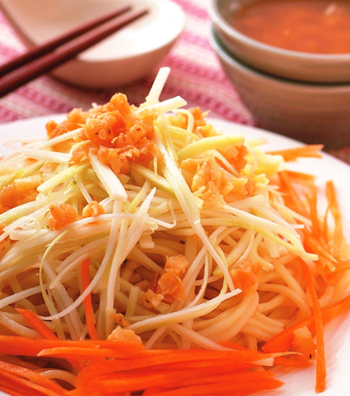 食譜:青木瓜蝦味醬涼麵