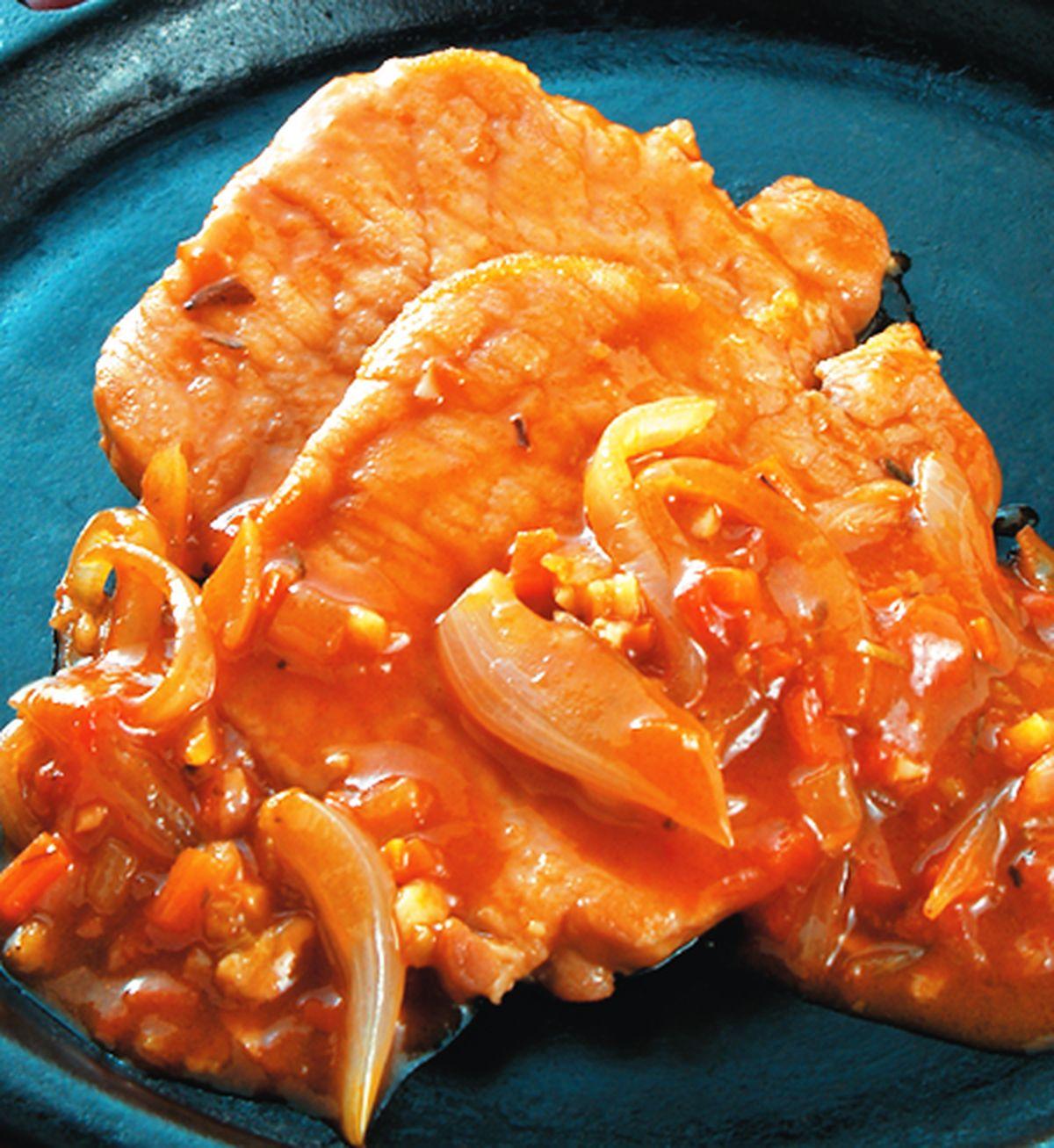 食譜:茄汁鐵板豬排