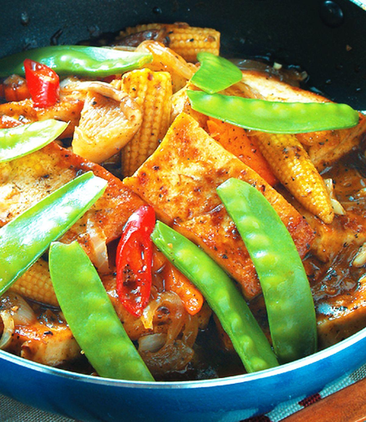 食譜:鐵板豆腐(4)
