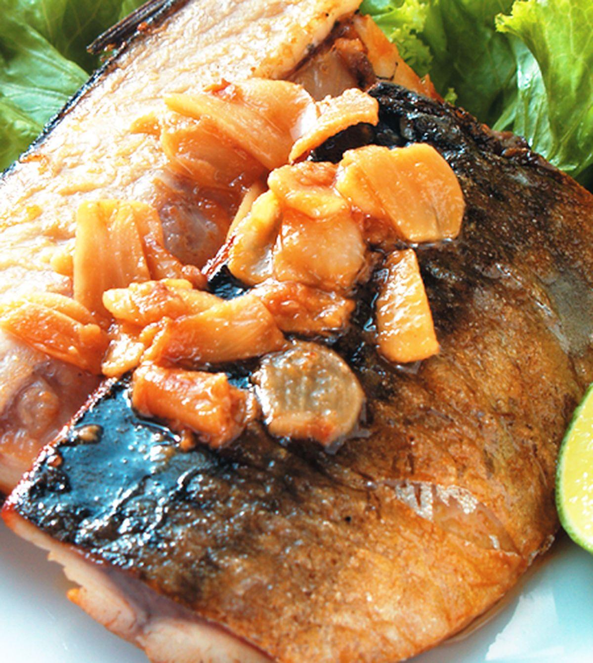 食譜:香蒜青花魚