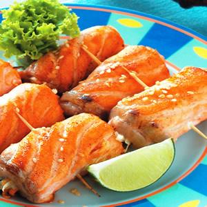 蒜香鮭魚捲