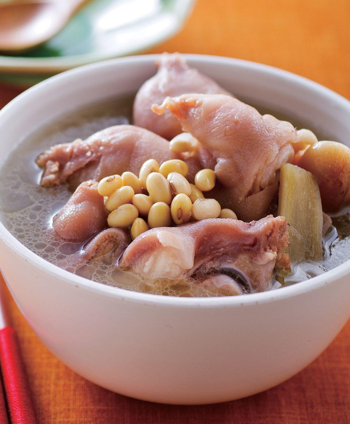食譜:黃豆燉豬蹄