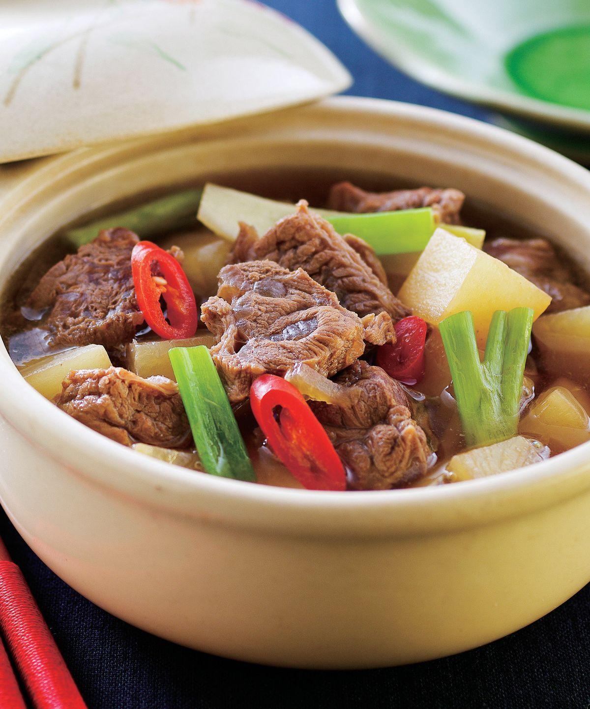 食譜:蘿蔔牛腩煲