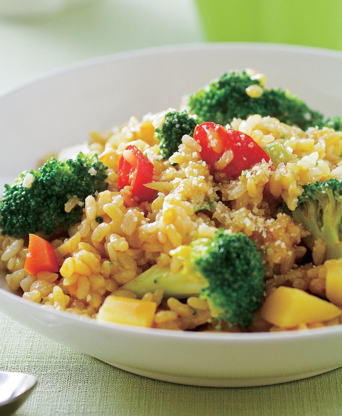 食譜:咖哩花椰菜燉飯