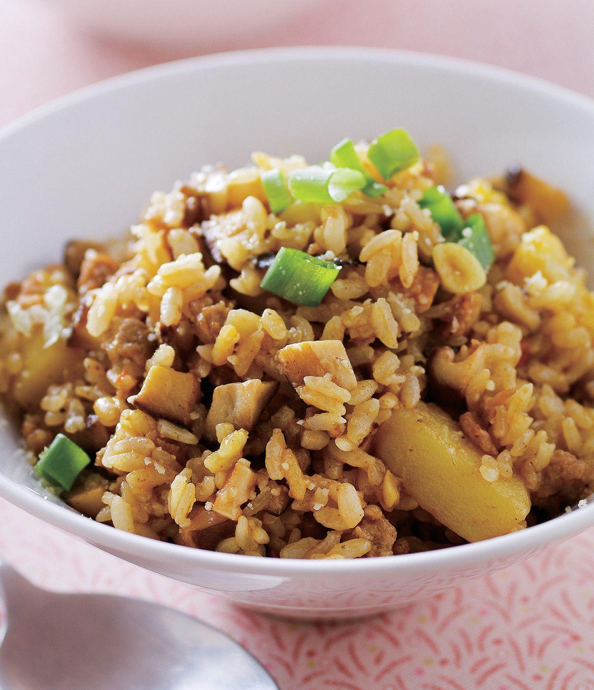 食譜:香菇滷肉燉飯