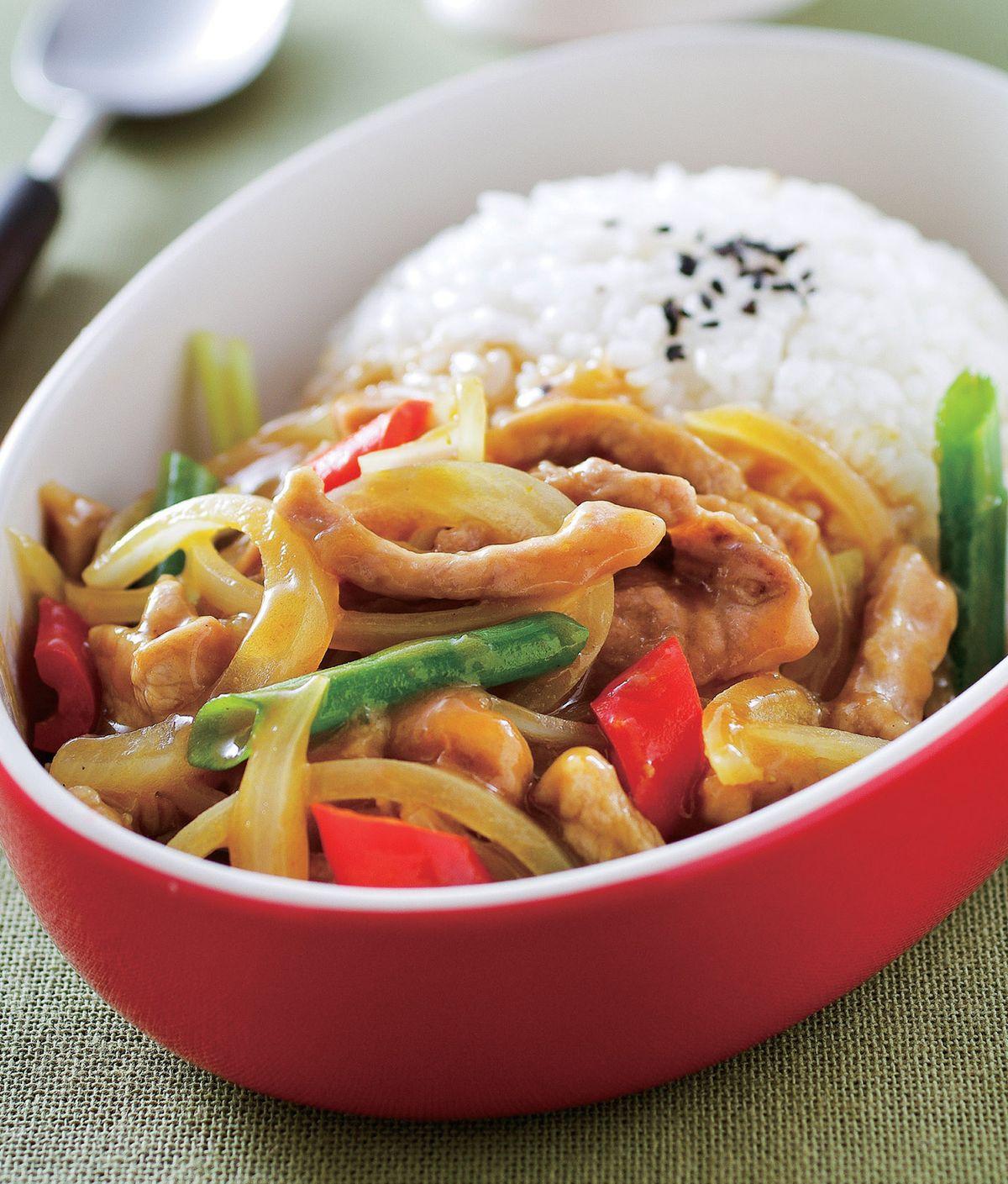 食譜:洋蔥豬柳咖哩燴飯