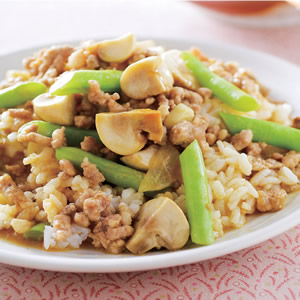 咖哩蘑菇燴飯