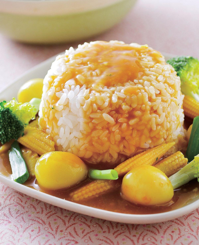 食譜:咖哩黃金蛋燴飯
