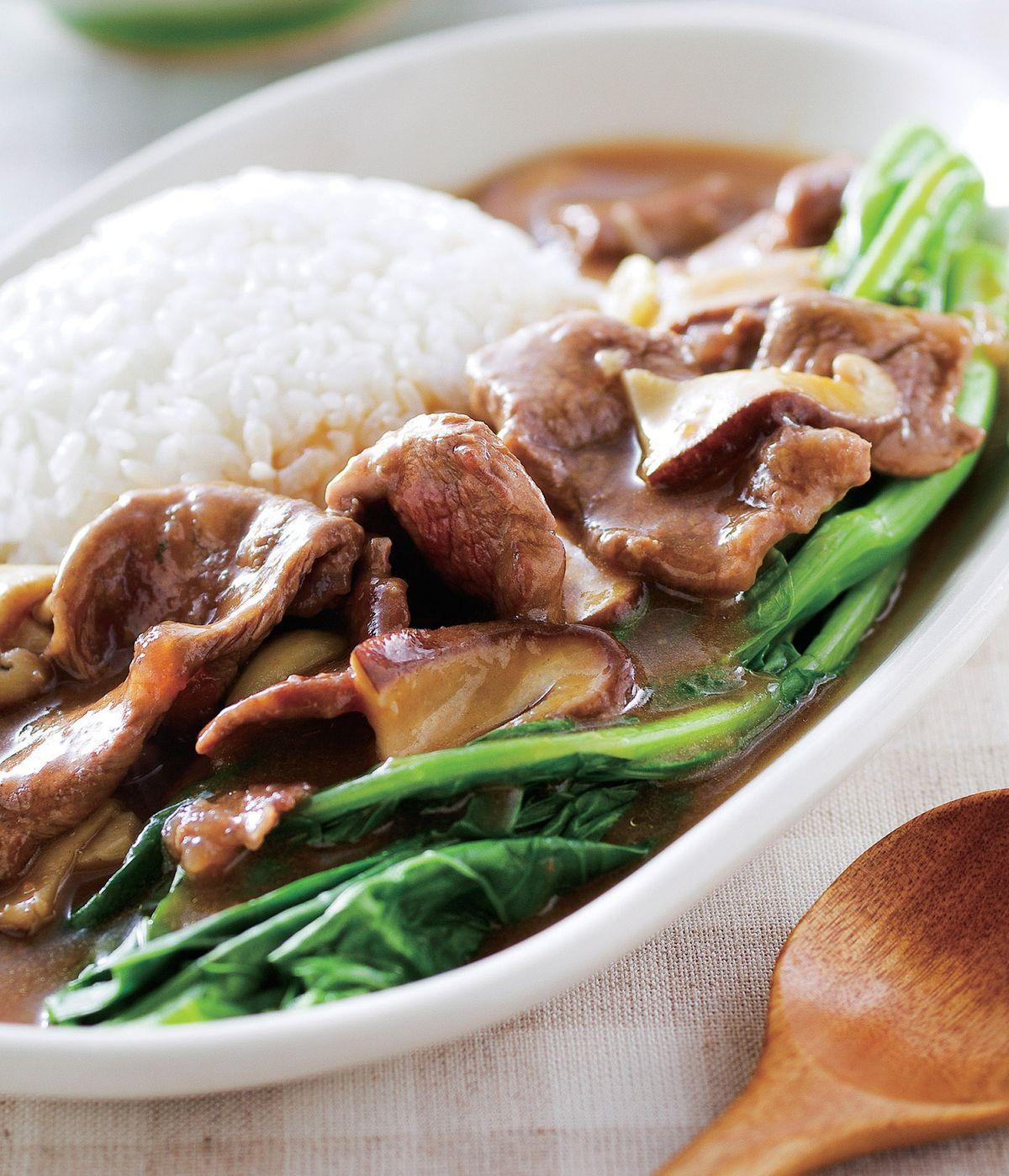食譜:芥蘭牛肉燴飯