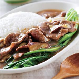 芥蘭牛肉燴飯