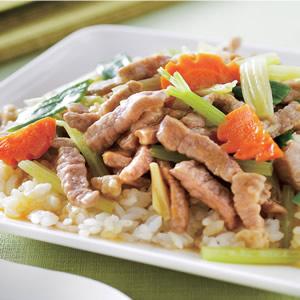 蔬菜肉絲燴飯