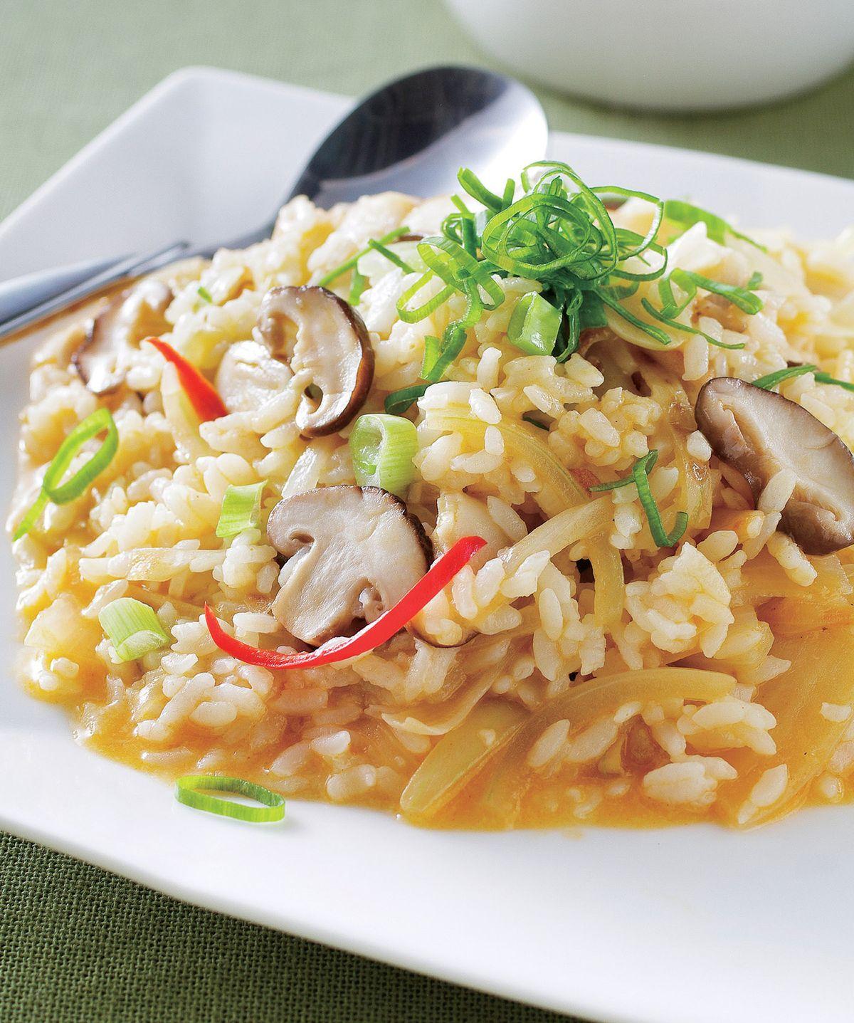 食譜:野菇酸辣燴飯