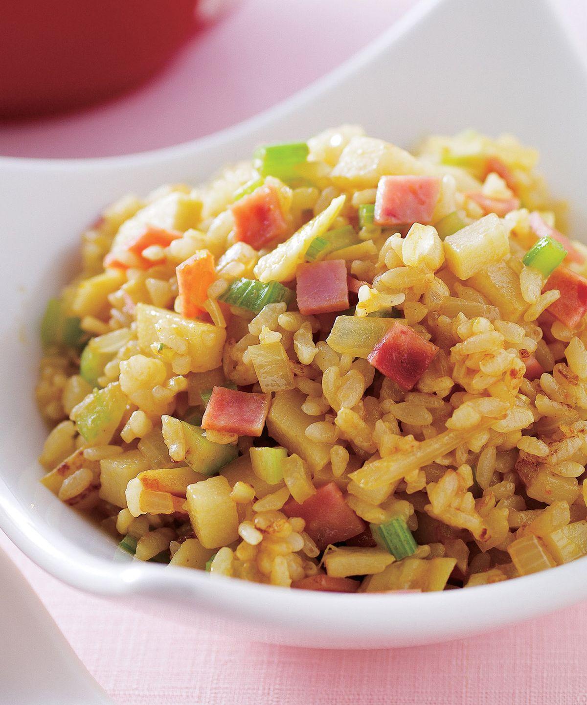 食譜:竹筍火腿咖哩炒飯