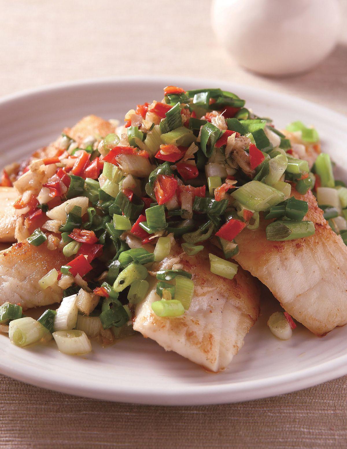 食譜:椒鹽炒魚片