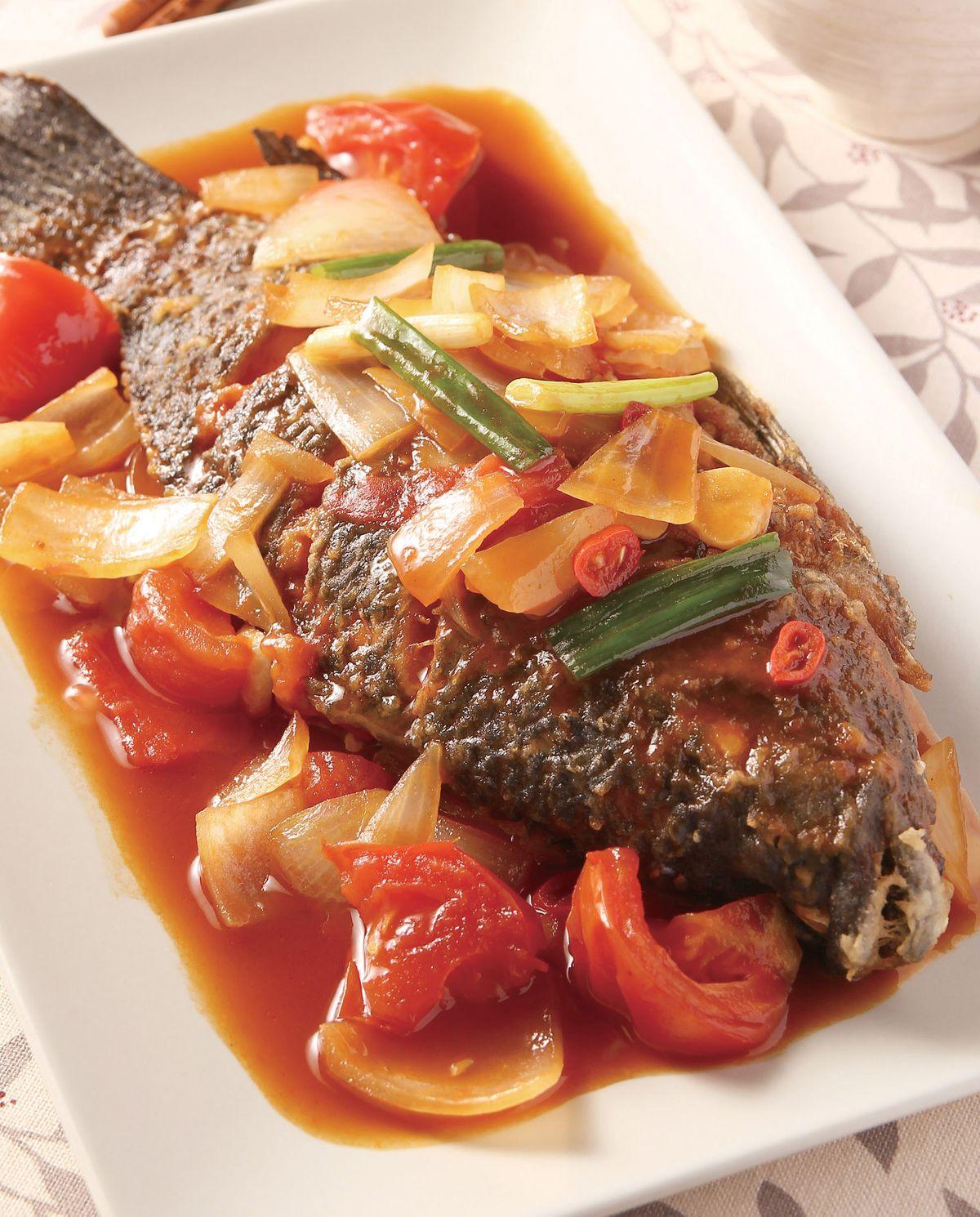 食譜:茄汁燒魚(1)