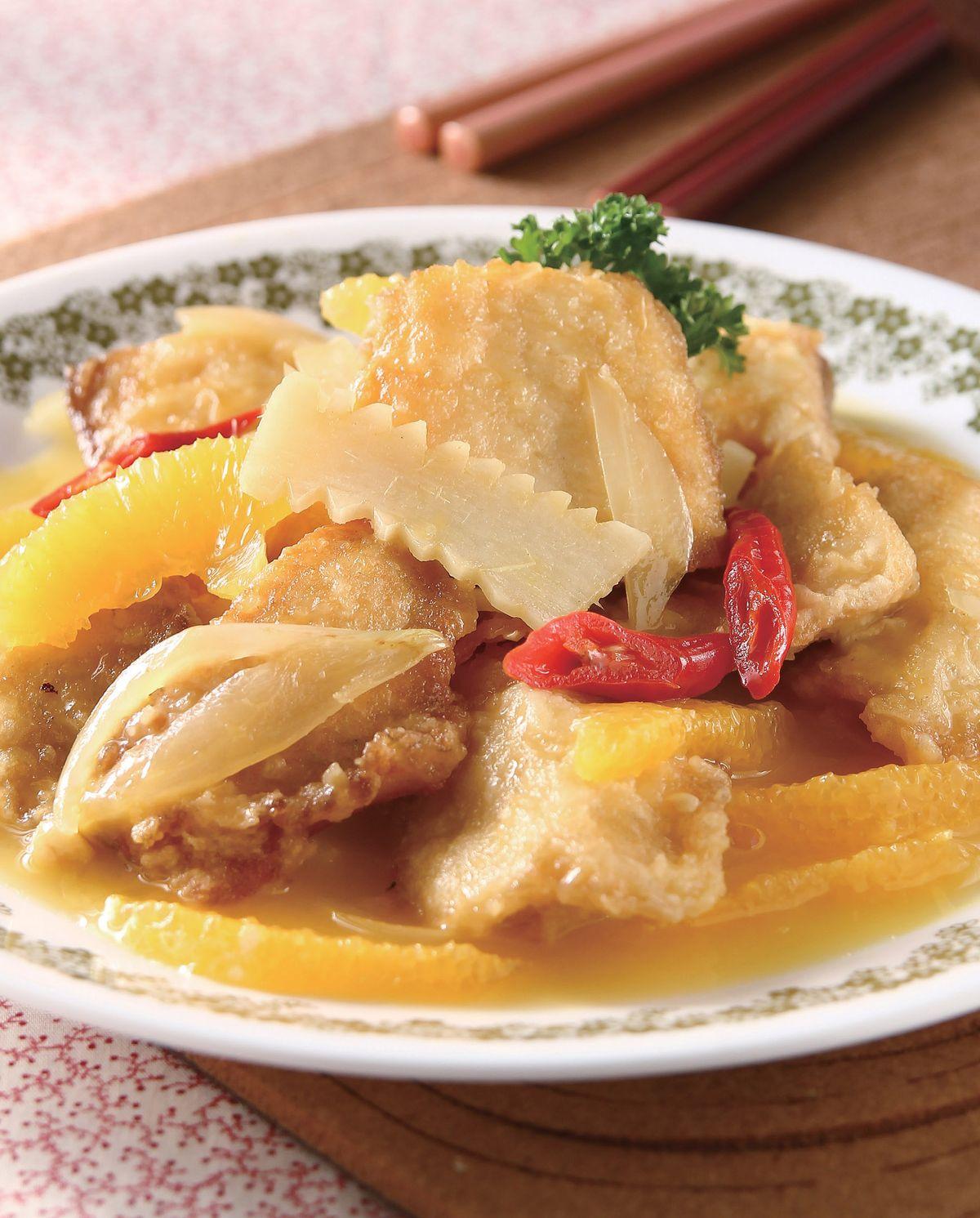 食譜:橙汁燒魚片