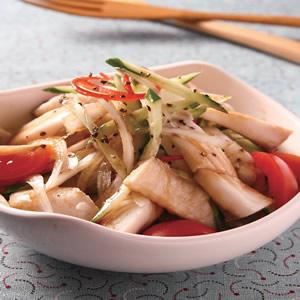 洋蔥涼拌魚條