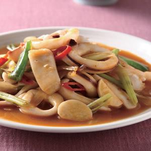 韓式辣醬炒中卷