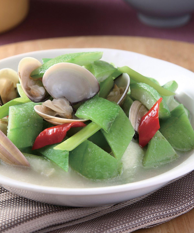 食譜:絲瓜燴蛤蜊(1)
