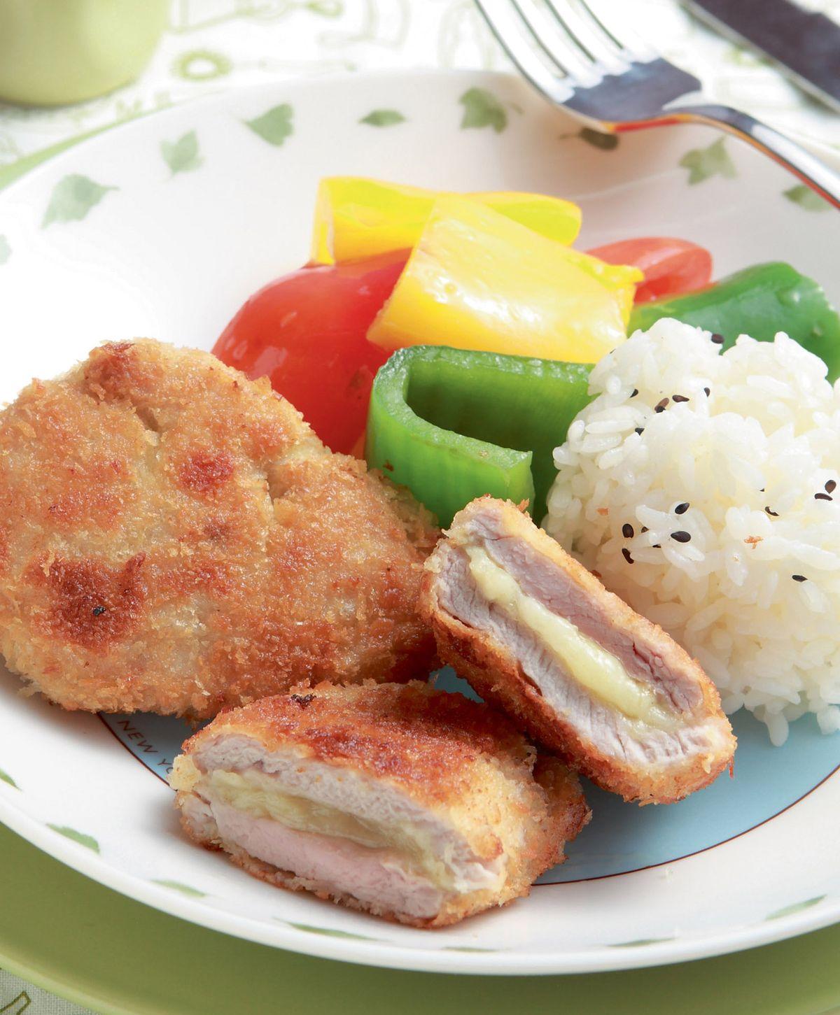 食譜:起司豬排套餐
