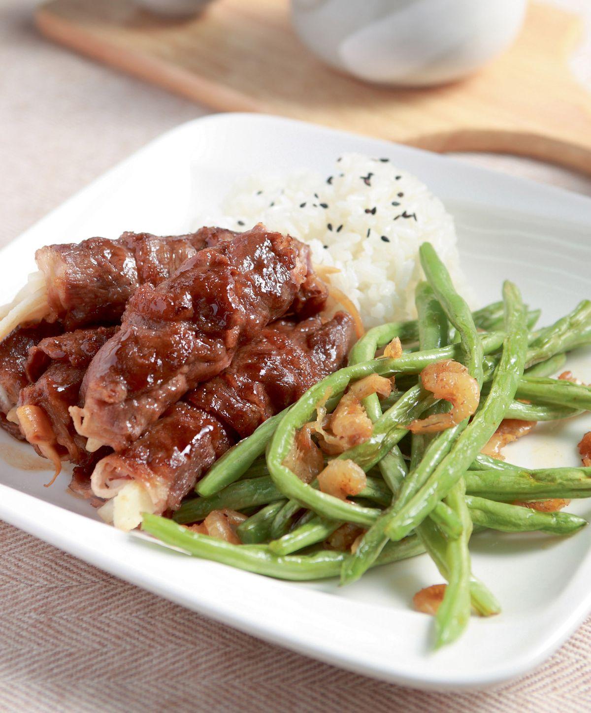 食譜:牛肉筍捲套餐