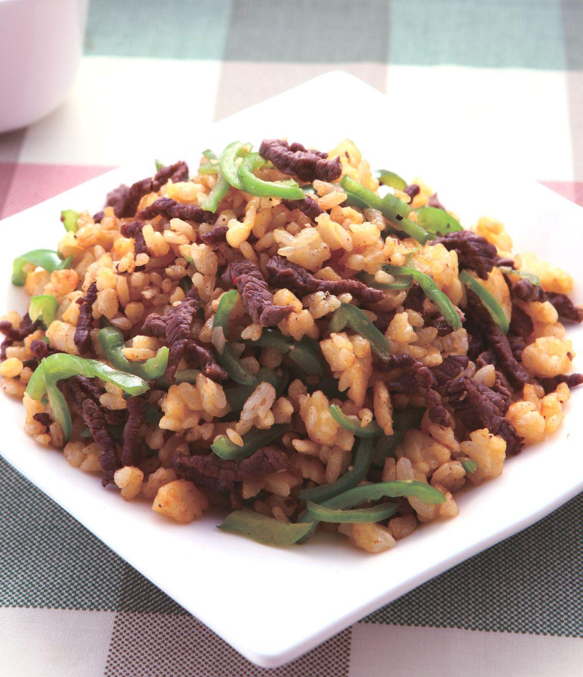 食譜:青椒牛肉炒飯(4)