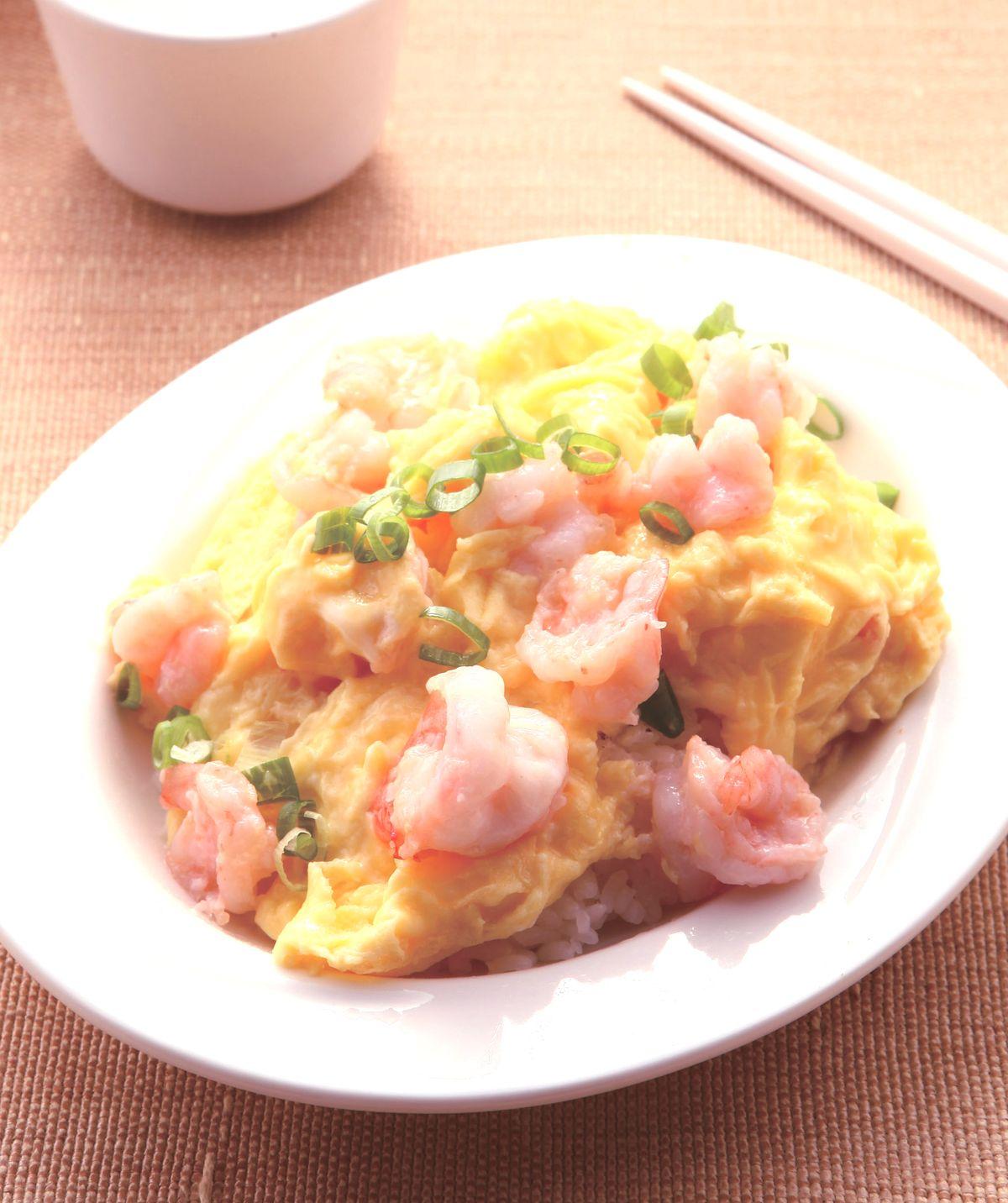 食譜:滑蛋蝦仁燴飯(5)