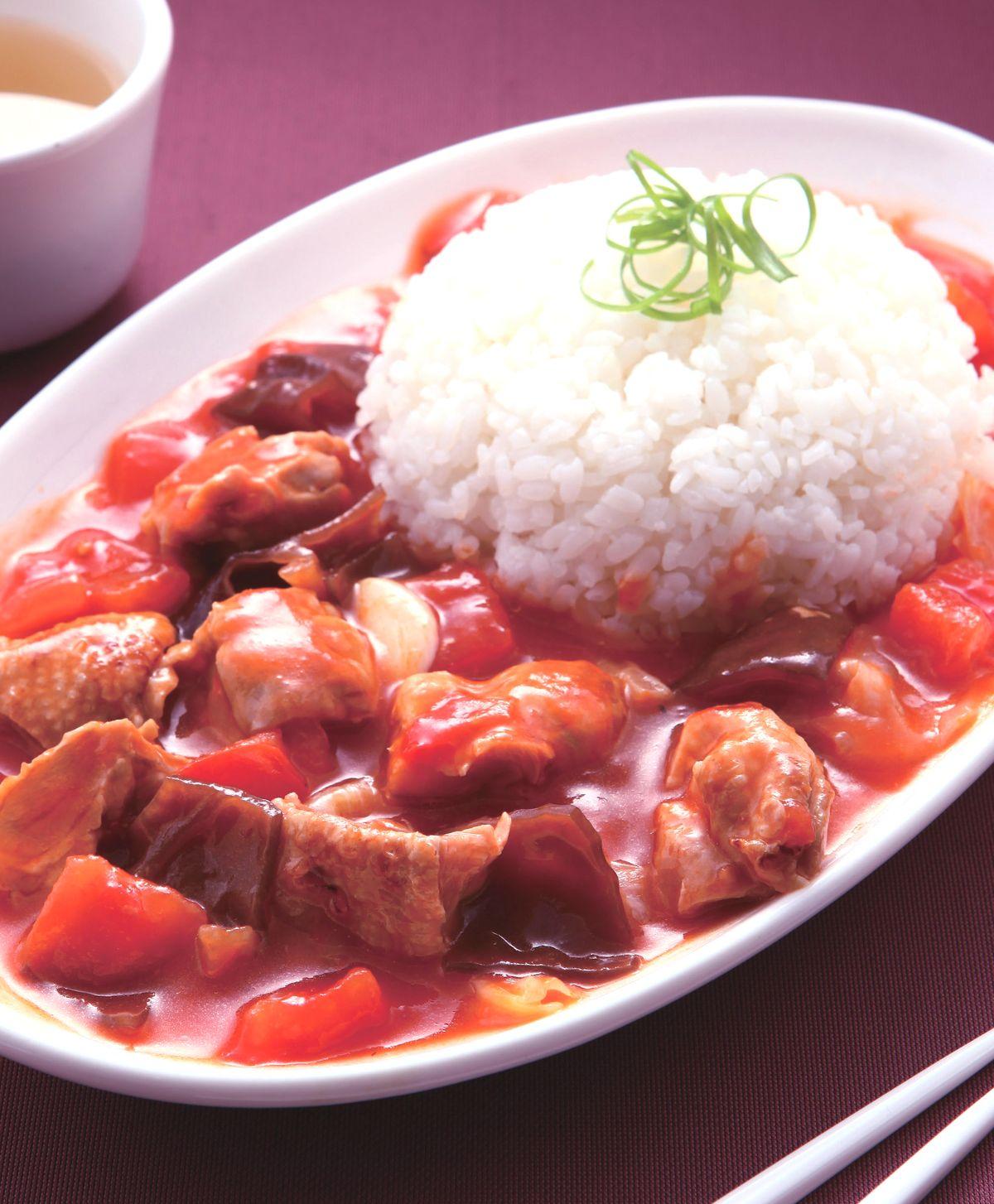 食譜:木須雞肉番茄燴飯