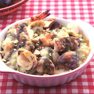 青醬海鮮焗飯(1)