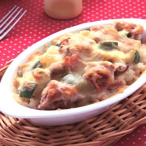 奶油雞肉焗飯(1)