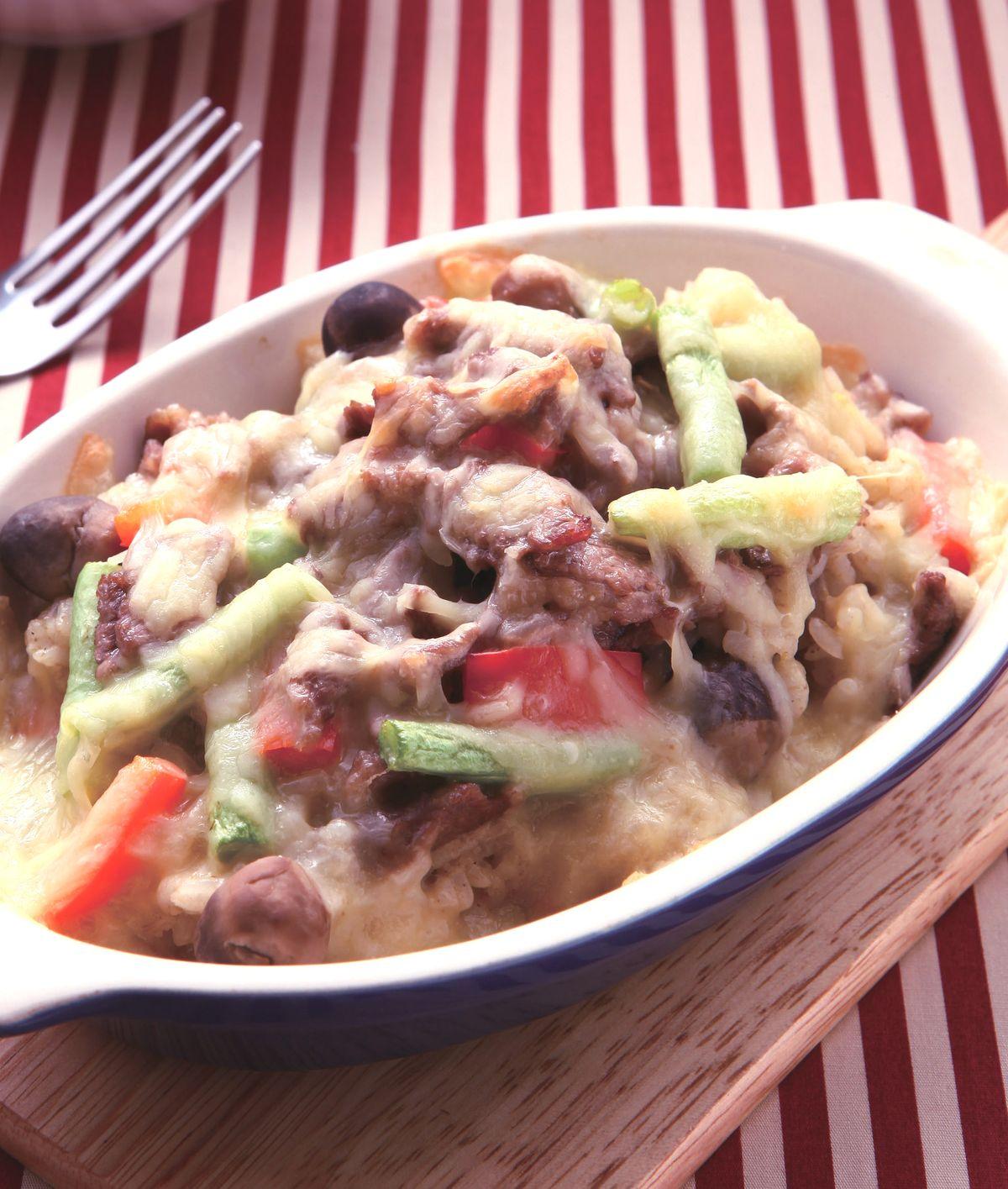 食譜:綠咖哩牛肉焗飯