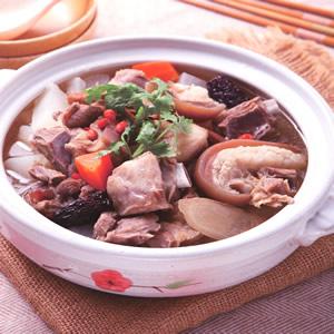 蘿蔔連鍋羊肉