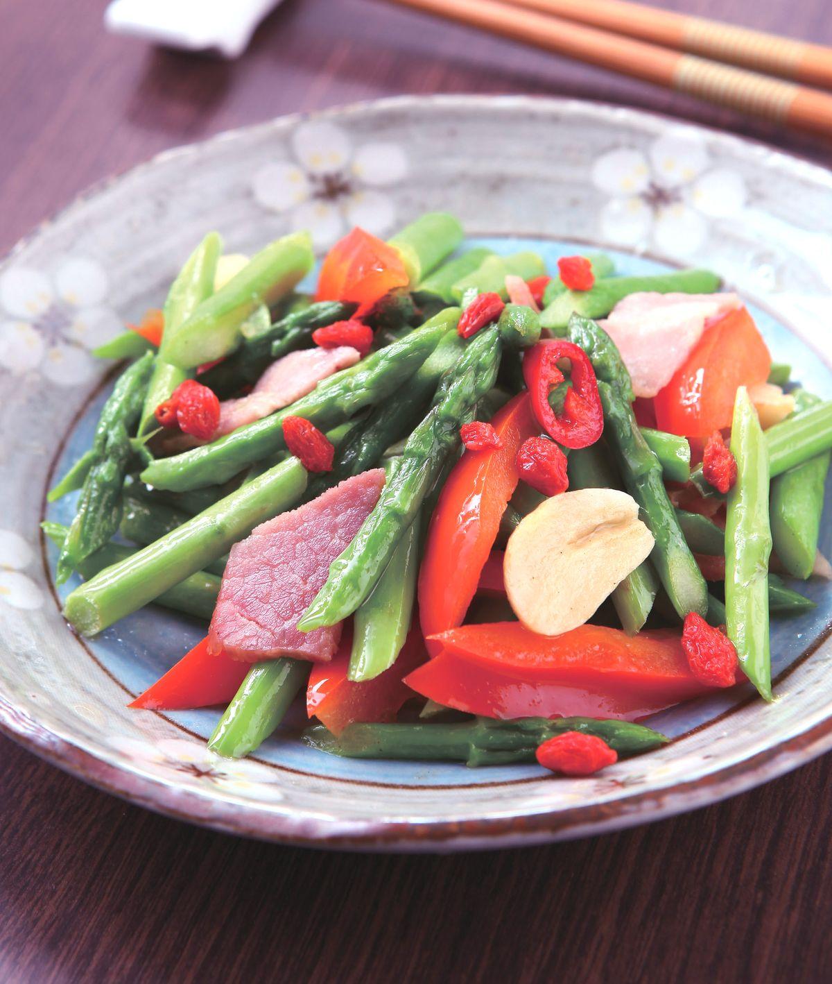 食譜:培根炒蘆筍