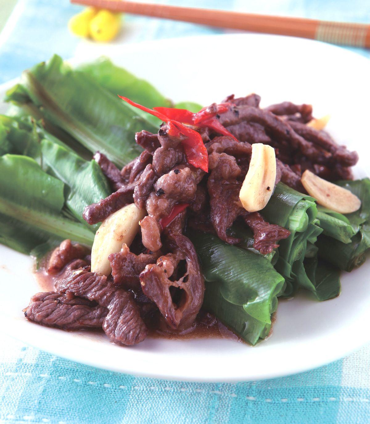 食譜:牛肉炒山蘇