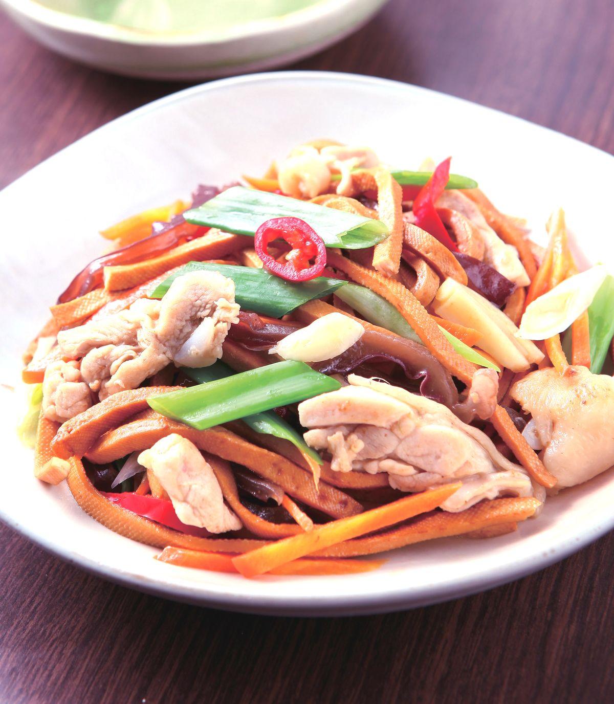 食譜:雞肉炒干絲