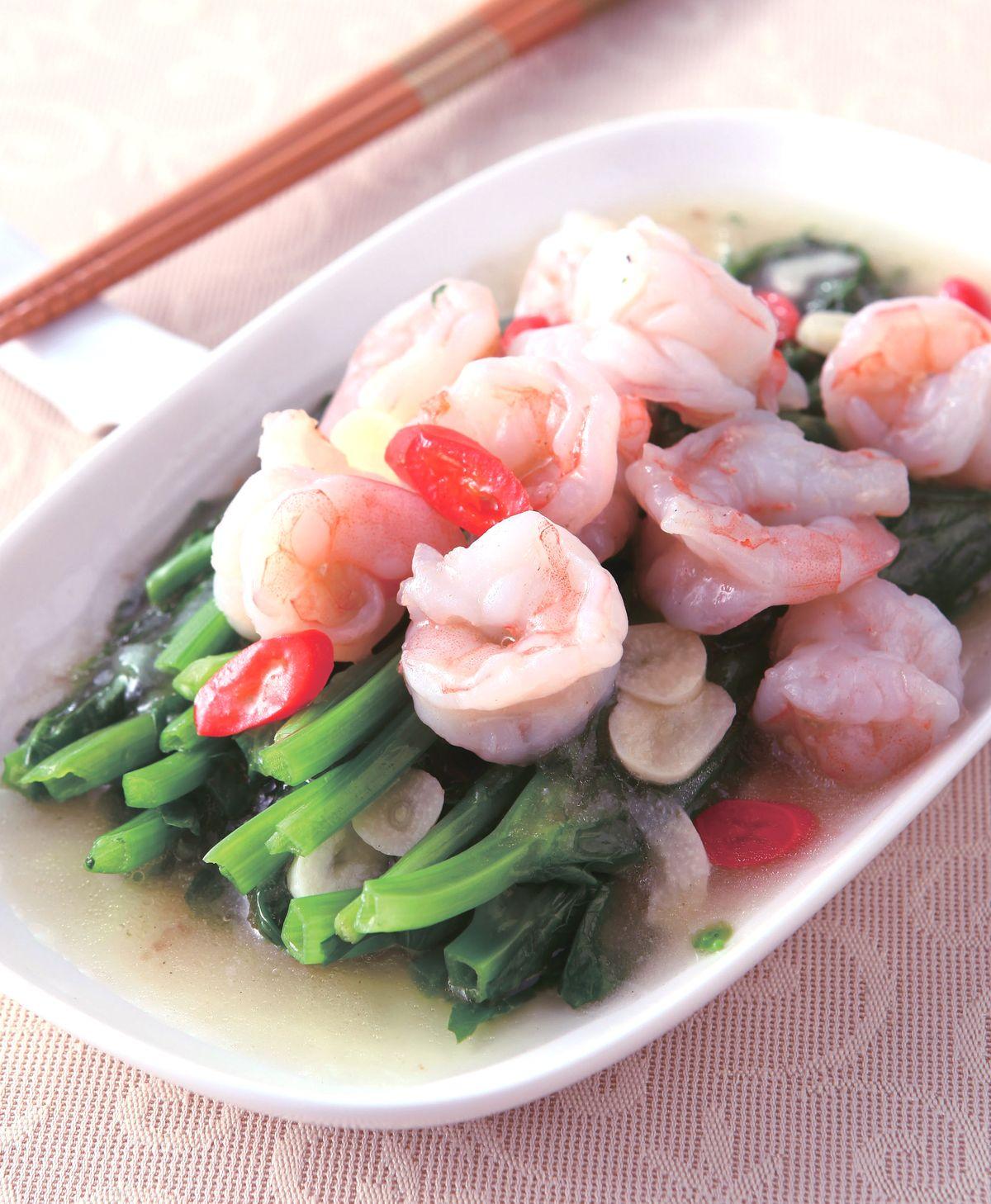 食譜:豆苗炒蝦仁(1)