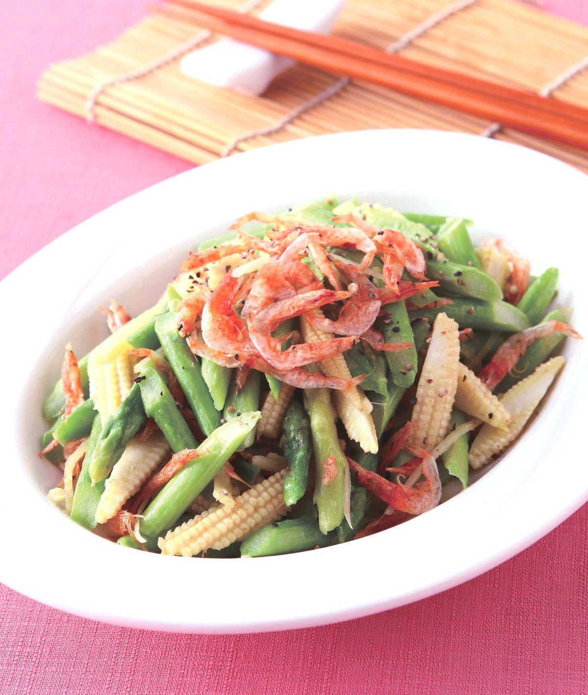 食譜:櫻花蝦炒蘆筍